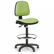 pracovná stolička Milano Biedrax Z9785Z s oporným kruhom a klzákmi