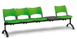 plastová lavica do čakární Visio Biedrax LC9289Z - čierne nohy