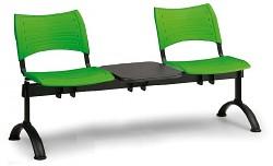 plastová lavica do čakární Visio Biedrax LC9285Z - čierne nohy