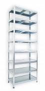 kovový regál Biedrax 35 x 60 x 270 cm - 8 políc kovových x 120 kg, pozinkovaný