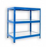 kovový regál Biedrax 50 x 60 x 120 cm - 3 police kovové x 120 kg, modrý