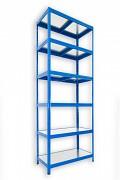kovový regál Biedrax 35 x 75 x 270 cm - 6 políc kovových x 120 kg, modrý