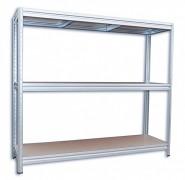 kovový regál Biedrax 60 x 240 x 180 cm, 3 police - zinok, nosnosť 200 kg na policu