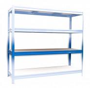 polica k regálu kompletná - regál kovový, 60 x 200 cm - modrý, 200 kg na policu