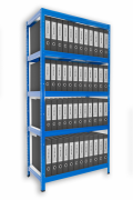Regál na šanóny Biedrax 35 x 75 x 180 cm - 5 políc x 175kg, modrý
