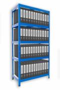Regál na šanóny Biedrax 35 x 60 x 180 cm - 5 políc x 175kg, modrý
