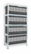 Regál na šanóny Biedrax 40 x 60 x 180 cm, 5 políc kovových x 100 kg, pozinkovaný