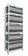 Regál na šanóny Biedrax 40 x 80 x 210 cm, 6 políc kovových x 100 kg, pozinkovaný