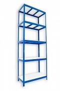 kovový regál Biedrax 45 x 90 x 210 cm - 5 políc lamino x 275 kg, modrý