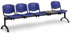 plastová lavica do čakární ISO Biedrax LC9730M - čierne nohy