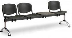 plastová lavica do čakární ISO Biedrax LC9711C - chrómované nohy