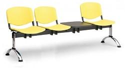 plastová lavica do čakární ISO Biedrax LC9711ZL - chrómované nohy