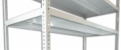 Polica - skrutkovaný regál Biedrax 60 x 150 cm - biela