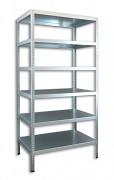 kovový regál Biedrax skrutkovaný 30 x 100 x 180 cm, 6 políc - pozinkovaný