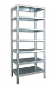 kovový regál Biedrax skrutkovaný 30 x 100 x 250 cm, 7 polic - pozinkovaný
