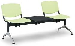 plastová lavica do čakární Smile Biedrax LC9964Z - nohy sú z lešteného hliníka