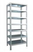 kovový regál Biedrax skrutkovaný 40 x 150 x 250 cm, 7 polic - pozinkovaný
