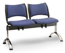 čalúnená lavica do čakární Smart Biedrax LC9218M - chrómované nohy