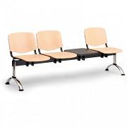 drevená lavica do čakární ISO Biedrax LC9747 - chrómované nohy