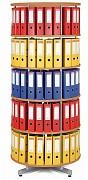 regál otočný archivačný - 5 polic, buk Biedrax AS4659