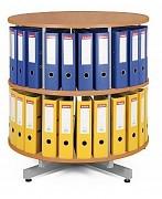 regál otočný archivačný - 2 police, čerešňa Biedrax AS3944