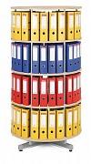 regál otočný archivačný - 4 police, breza Biedrax AS4664