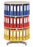 regál otočný archivačný - 3 police, breza Biedrax AS4663
