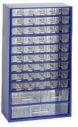 kovové skrinky so zásuvkami na drobný materiál - Biedrax 6744 modrá