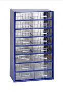 kovové skrinky so zásuvkami na drobný materiál - Biedrax 6752 modrá