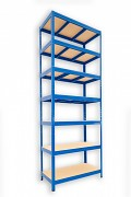 kovový regál Biedrax 45 x 90 x 270 cm - 7 políc x 275kg, modrý