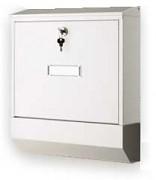 poštová schránka na listy, noviny, lakovaná biela - Biedrax SD6301