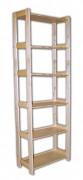 regál drevený masívny 33,5 x 45 x 204 cm, 6 polic