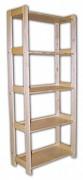 regál drevený masívny 33,5 x 68 x 166 cm, 5 polic