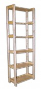 regál drevený masívny 33,5 x 68 x 204 cm, 6 polic