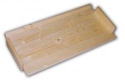 náhradné police - regál drevený masívny 43,5 x 68 cm