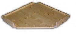 náhradné police - regál drevený masívny rohový 70 x 70 cm