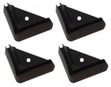plastové nožičky, patky pod regály - sada 4 kusov