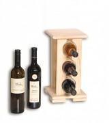 drevený stojan na víno pre 3 fľaše - SV3