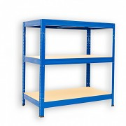 kovový regál Biedrax 60 x 90 x 120 cm - 3 police x 175kg, modrý