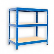 kovový regál Biedrax 35 x 90 x 120 cm - 3 police x 275kg, modrý