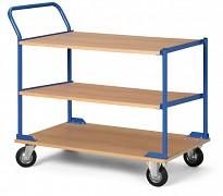 policový vozík s drevotrieskovými policami Biedrax PV4684 - 100 x 60 cm