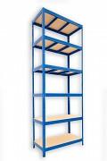 kovový regál Biedrax 35 x 75 x 240 cm - 6 políc x 275kg, modrý