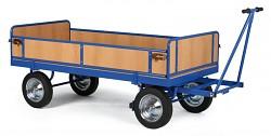 ťažký plošinový vozík Biedrax PV817 - ohrádka z drevotriesky
