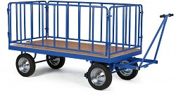 ťažký plošinový vozík Biedrax PV822 - celokovová ohrádka