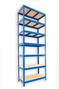 kovový regál Biedrax 50 x 90 x 270 cm - 7 políc x 275kg, modrý