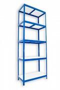 kovový regál Biedrax 35 x 75 x 240 cm - 5 políc lamino x 175 kg, modrý