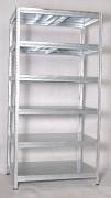 kovový regál Biedrax 45 x 120 x 240 cm - 6 políc kovových x 175kg, pozinkovaný