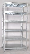 kovový regál Biedrax 45 x 90 x 240 cm - 6 políc kovových x 275kg, pozinkovaný