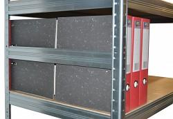 bočná zábrana 60 cm zinok, pre kovový regál proti vypadnutiu