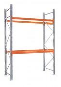 paletový regál základný 100 x 100 x 250 cm - 3000 kg/poschodie, pozinkovaný